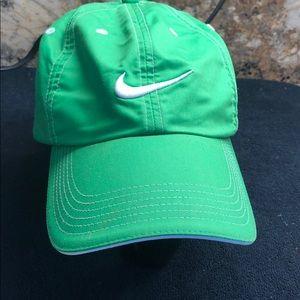 Green Nike ball cap